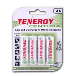 Pack 4 Tenergy Centura Recargables AA