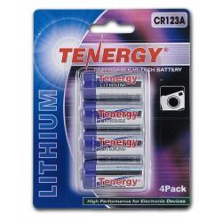 4 Baterías Tenergy CR123A