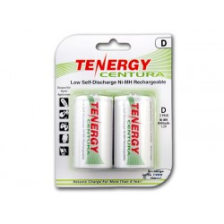 Pack 2 Tenergy Centura Recargables D