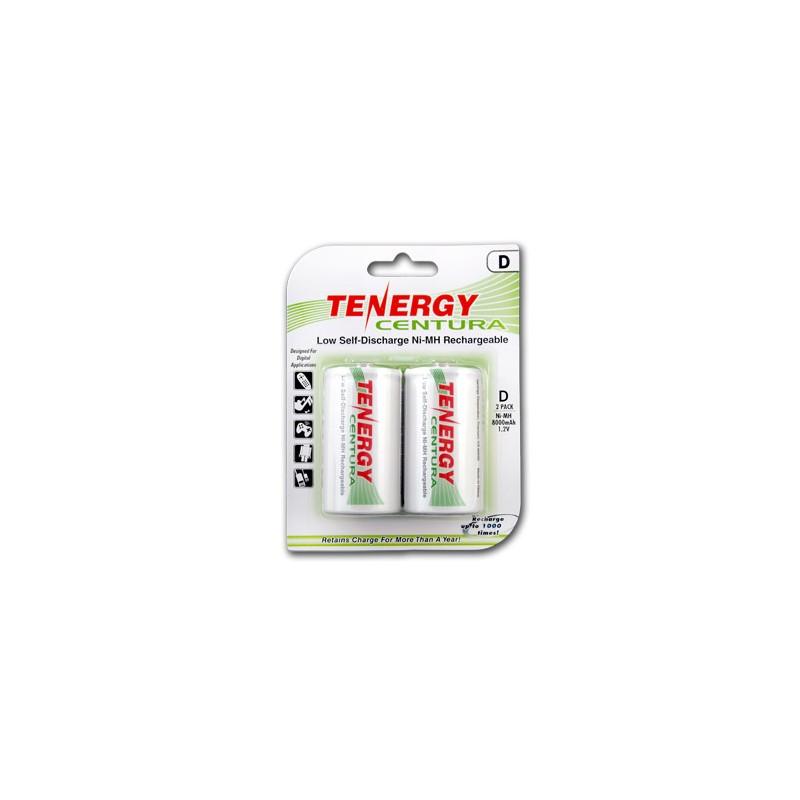 2 Tenergy Centura 1.2V 8000mAh Ni-MH D Recargables