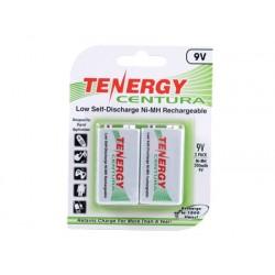 2 Baterías Tenergy Centura 9V Recargables