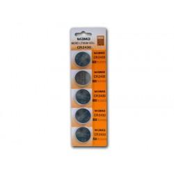 5 unidades CR2430 Litio de botón