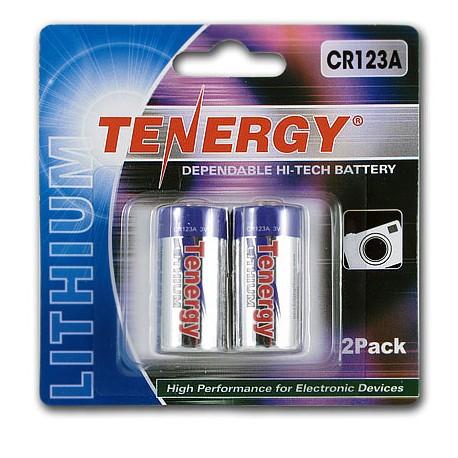 2 Baterías Tenergy CR123A